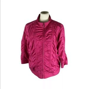 Laura Ashley pink jacket size XL
